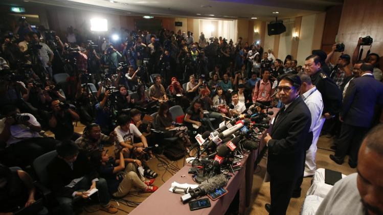 Department of Civil Aviation Director General Datuk Azharuddin Abdul Rahman looks on during a news conference at the Kuala Lumpur International Airport in Sepang