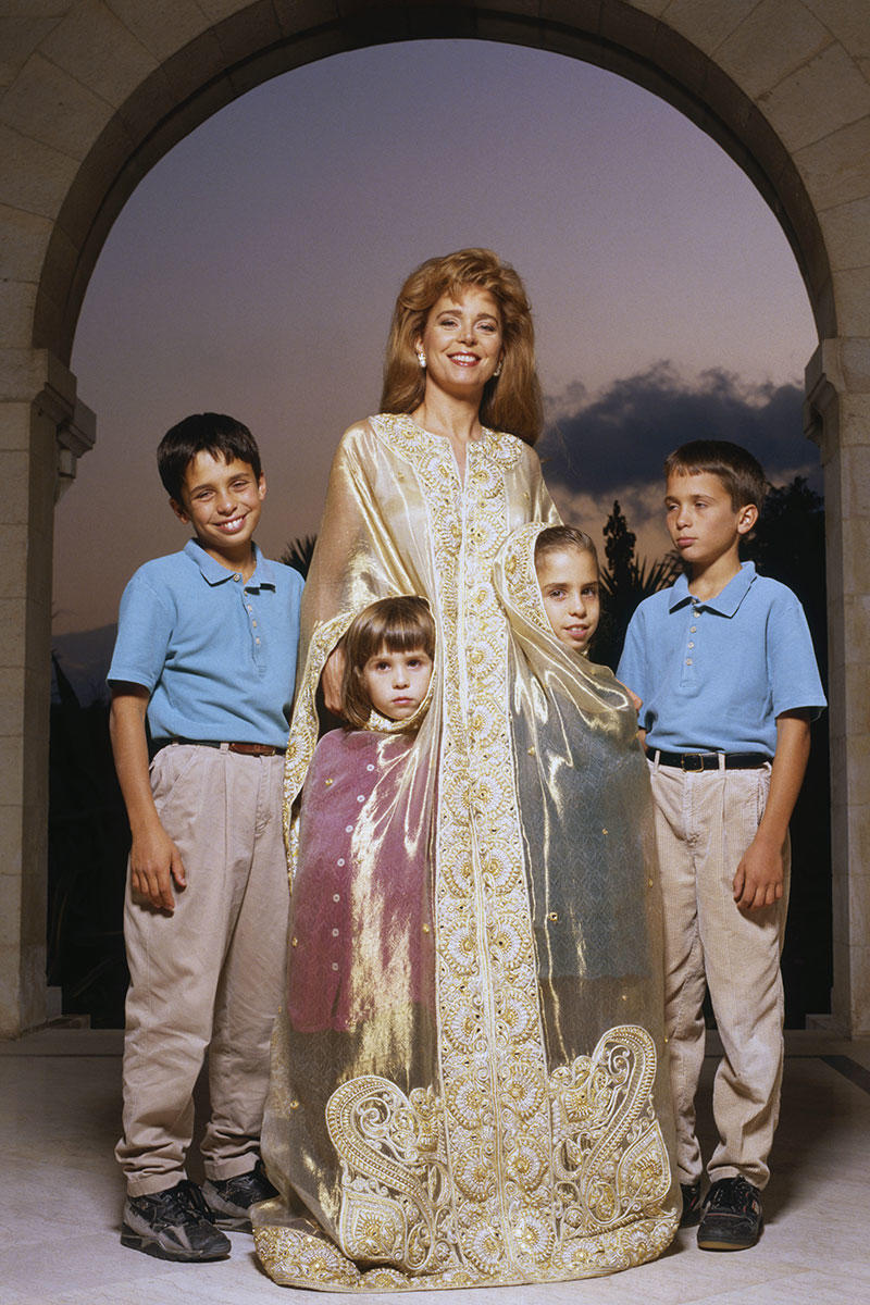Queen Noor of Jordan, 1991