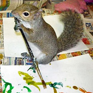 Portrait of an artist: Winkelhimer Smith is a squirrel