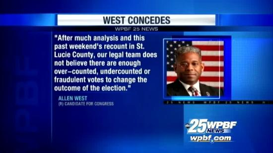 Allen West concedes in congressional race vs. Patrick Murphy