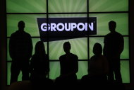 "<p>               In this Thursday, Sept. 22, 2011, photo, employees at Groupon pose in silhouette by the company logo in the lobby of the online coupon company's Chicago offices.  Groupon Inc., the No. 1 online deals service, failed to show investors on Thursda, Nov. 8, 2012, that its business is growing as quickly as they would like, as it was hurt by what it called ""continued challenges"" from the economic weakness in Europe. (AP Photo/Charles Rex Arbogast)"