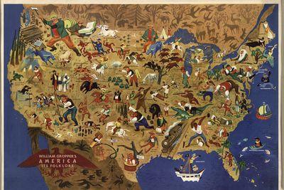 All of America's folk heroes, in one map