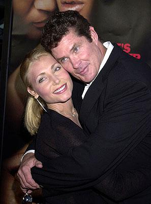 Pamela Bach and David Hasselhoff at the L.A. premiere of MGM's Original Sin
