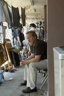 Director/producer Ridley Scott on the set of Universal Pictures' American Gangster