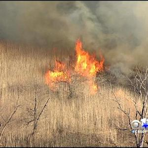 Denton Firefighters Battle Grass Fire