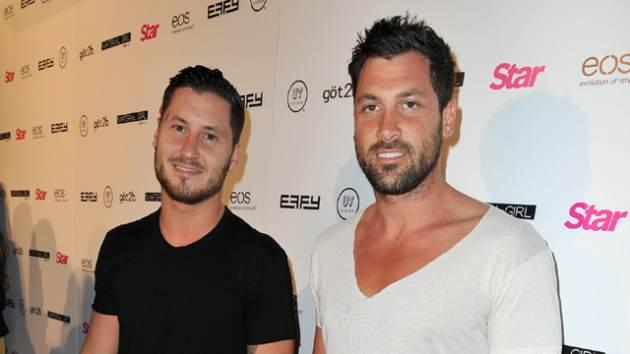 Val Chmerkovskiy and Maksim Chmerkovskiy attend Star Magazine's Hollywood Rocks event held at Playhouse Hollywood on April 4, 2013 -- Getty Images
