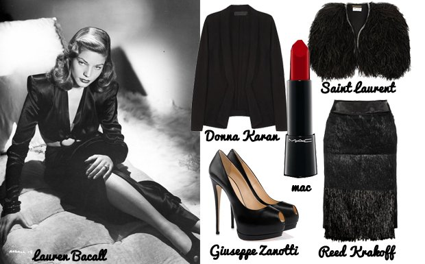 Icone del passato: copia il look di Lauren Bacall