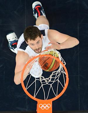"NBA star center Kevin Love is expected to be traded to the Cleveland Cavaliers, joining US Olympic teammate LeBron James in a new ""Big Three"" for the superstar playmaker"