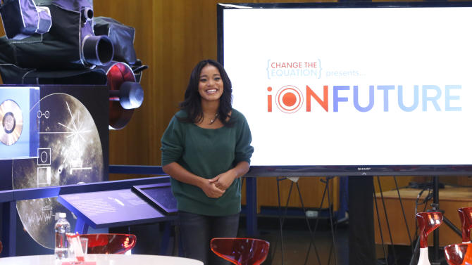 Keke Palmer hosts Change the Equation's iON FUTURE Launch at NASA Jet Propulsion Laboratory on Tuesday November 20, 2012 in Pasadena, California .  (Photo by Todd Williamson/Invision for Change the Equation/AP Images