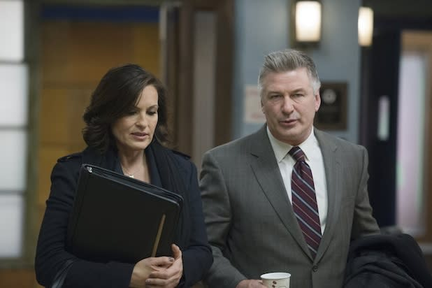 'Law & Order: SVU' Sneak Peek: Alec Baldwin Butters Up Mariska Hargitay's Benson (Video)