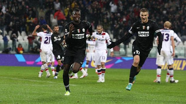2012, Paul Pogba celebration, Juventus - Bologna, Ap/LaPresse