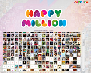 Myntra Celebrates One Million Fans On Facebook image happy million facebook app