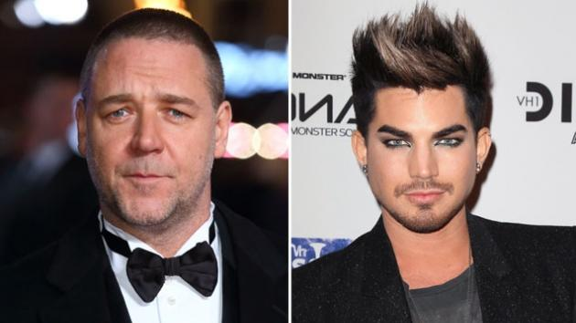Russell Crowe / Adam Lambert  -- Getty Premium