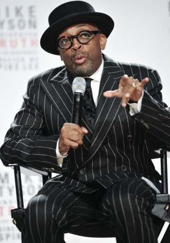 Director Spike Lee talks about his Broadway directorial debut &quot;Mike Tyson: Undisputed Truth&quot;, a one man show starring Mike Tyson, on Monday June 18, 2012 in New York. (Photo by Evan Agostini/Invision)