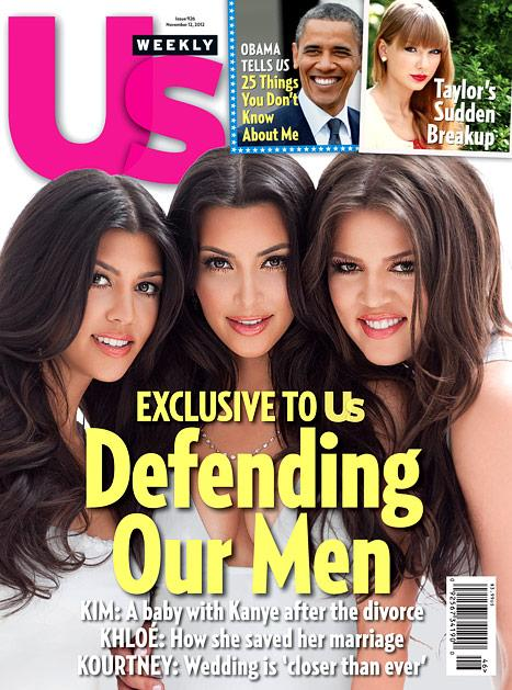 "Kim, Khloe, Kourtney Kardashian Slam ""Hurtful Lies"" About Their Men"
