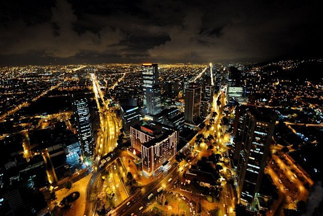 Bogota, Columbia, is illuminated at night with Christmas lights on November 28, 2008. The Honduran ambassador to Colombia has been required to resign, his foreign ministry said Saturday, after his bodyguard reportedly held a Christmas party with prostitutes at the mission