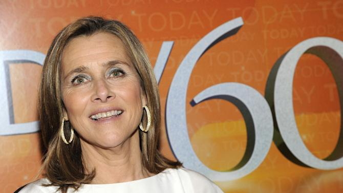 """FILE - This Jan. 12, 2012 file photo, Meredith Vieira attends the """"Today"""" show 60th anniversary celebration at the Edison Ballroom in New York. Vieira will cover for Bob Costas on NBC's Olympics broadcast on Friday because of an eye infection. (AP Photo/Evan Agostini, File)"""