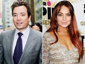 Jimmy Fallon Had Surprise Run-In With Lindsay Lohan After Hurricane Sandy