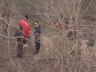 Police search area where skull was found