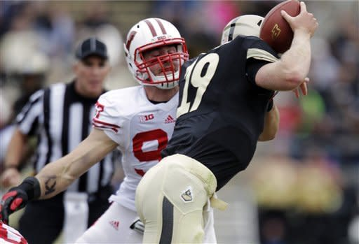 Ball has career day, Wisconsin beats Purdue 38-14
