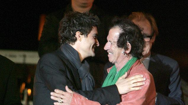 Orlando Bloom and Keith Richards