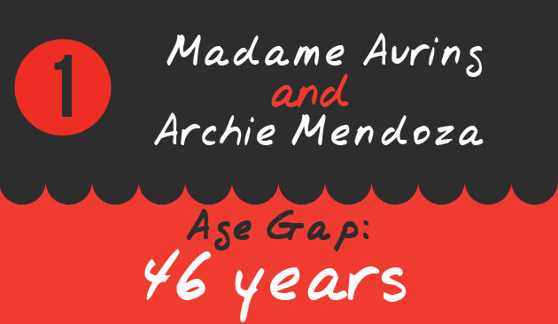 1. Madame Auring and Archie Mendoza, Age Gap: 46 years