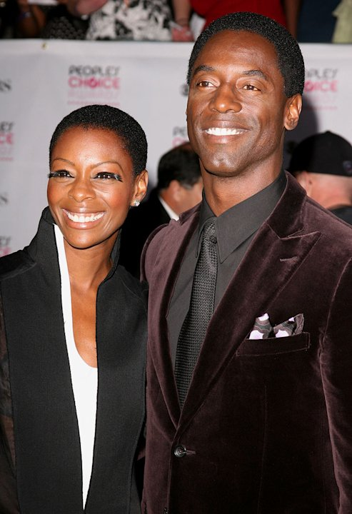 Isaiah Washington (right) and guest at The 33rd Annual People's Choice Awards.