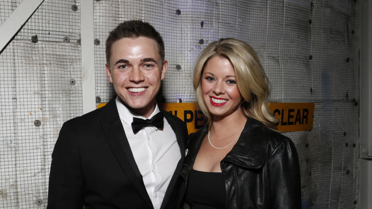 Jesse Mccartney and Katie Peterson attend the 4th Annual Social Media Rock Stars Summit, on Friday, February, 8, 2013 in Los Angeles(Photo by Todd Williamson/Invision for Billboard Magazine/AP Images)