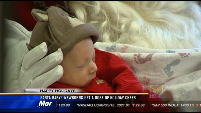 Santa Baby! Newborns get a dose of holiday cheer