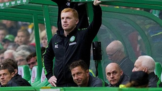Neil Lennon, bottom, was delighted with Celtic's performance at Parkhead