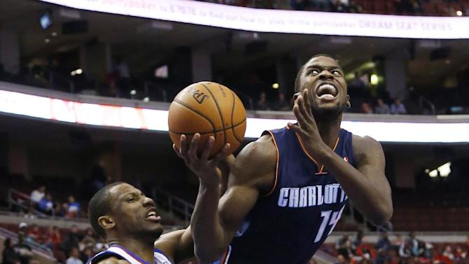 Jefferson leads Bobcats past 76ers, 123-93