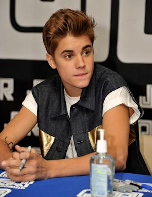 Justin Bieber at an autograph signing and fan meet and greet in New York City on June 19, 2012   -- Getty Images