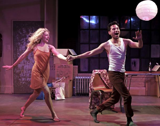 "This image released by David Gersten & Associates shows Lauren Molina, left, and Jason Tam in a scene from Keen Company's production of Stephen Sondheim's ""Marry Me a Little,"" performing off-Broadway at Theatre Row in New York. (AP Photo/David Gersten & Associates, Carol Rosegg)"