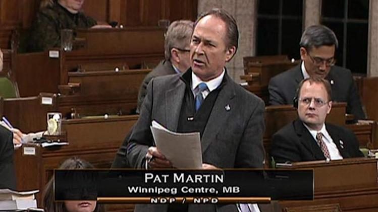 NDP MP Pat Martin salutes end of penny