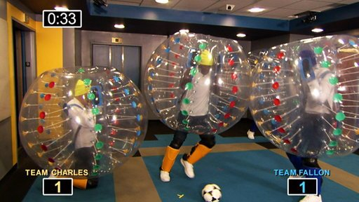 Bubble Soccer With Josh Charles and the Baltimore Ravens