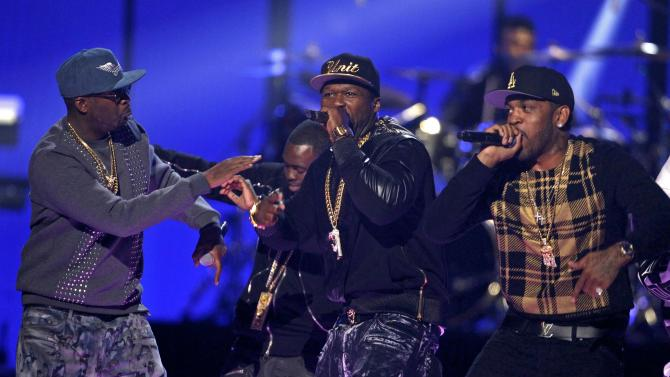 Rapper 50 Cent performs during the 2014 iHeartRadio Music Festival in Las Vegas