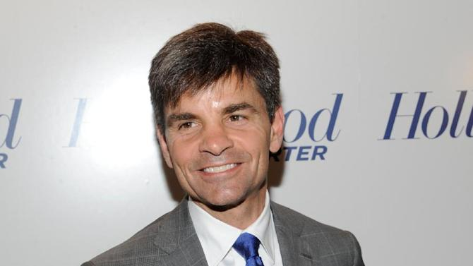 In this photograph taken by AP Images for The Hollywood Reporter George Stephanopoulos arrives at The Hollywood Reporter 35 Most Powerful People in Media event on Wednesday, April 11, 2012 in New York. (Evan Agostini/AP Images for The Hollywood Reporter)