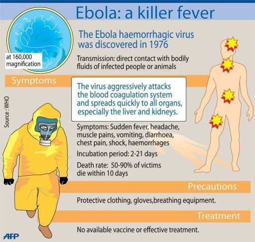 The virus has a fatality ratio of between 23 and 90 percent, according to the World Health Organisation (WHO)