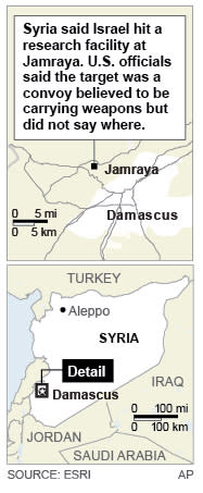 Map locates Jamraya, Syria