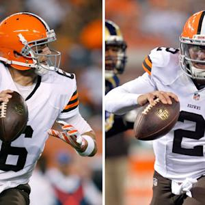 Cleveland Browns quarterbacks Brian Hoyer and Johnny Manziel Preseason Week 3 highlights