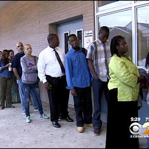 Frustrated Parents Wait On Long Lines To Sign Kids Up For School
