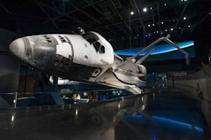 Space Shuttle Atlantis Launches on Public Display in Florida