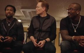 Watch Conan play the new Doom with Super Bowl stars