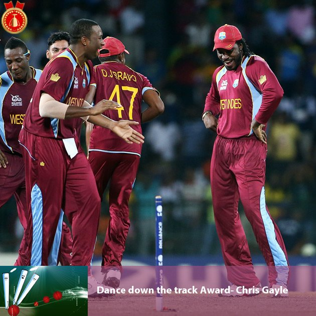 Dance down the track Award- Chris Gayle