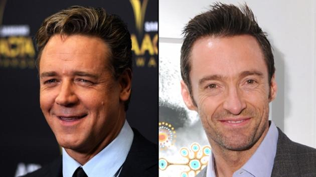 Russell Crowe, Hugh Jackman -- Getty Images