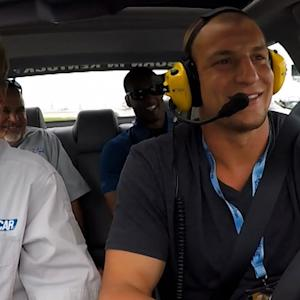 Rob Gronkowski visits Chicagoland Speedway