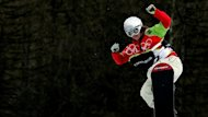 Britain's Gillings competes in the quarter-final of the women's snowboard cross competition in Bardonecchia