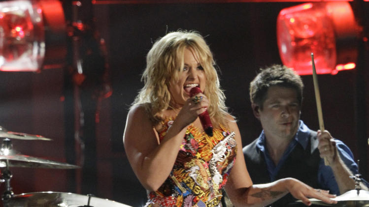 Miranda Lambert performs at the 46th Annual Country Music Awards at the Bridgestone Arena on Thursday, Nov. 1, 2012, in Nashville, Tenn. (Photo by Wayde Payne/Invision/AP)
