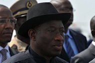 Nigerian President Goodluck Jonathan, pictured in May 2012, on Sunday said Islamist group Boko Haram was seeking to incite a religious crisis by attacking churches in an attempt to destabilise the government. (AFP Photo/Seyllou)