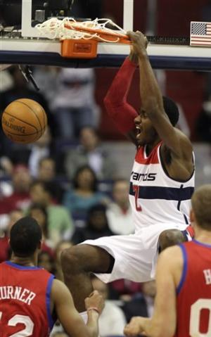 Wizards snap 5-game skid with 97-76 win over 76ers